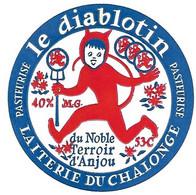 ETIQU. FROMAGE LE DIABLOTIN CHALONGE Anjou - Cheese