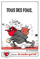 Gaston Lagaffe De Mesmaeker Adhésif La Vache Qui Rit 1986 - Unclassified