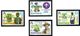 British Virgin Is 438-41 MNH 1982 Boy Scouts    (ap1954) - British Virgin Islands