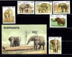 Laos 1329-35 MNH 1997 Elephants    (ap1676) - Laos