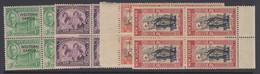 Samoa, Scott 191-194 (SG 215-218), MNH Blocks Of Four - Samoa