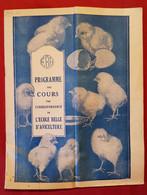 Programme Des Cours Par Correspondance De L'école Belge D'Aviculture - Autres