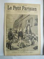 LE PETIT PARISIEN N°347 - 29 SEPTEMBRE 1895 -MADAGASCAR SOLDAT BLESSES - DRAME EN BALLON MONGOLFIERE ETTERBEEK - 1850 - 1899