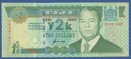 FIJI - P.102a – 2 DOLLARS 2000 UNC / Year 2000 Commemorative Issue - Figi