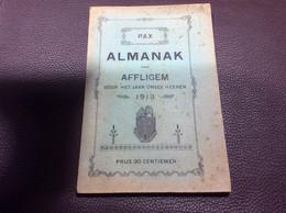 Oud Boekje Almanak Van Affligem Aalst 1913 - Collections