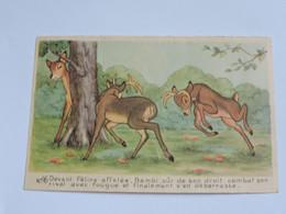 WALT DISNEY - Bambi Rassemblant Toutes Ses Forces Se Bat Contre Les Chiens...... B0681 - Other