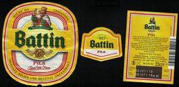 Luxembourg Lot 3 Étiquettes Bière Beer Labels Battin Pils - Beer