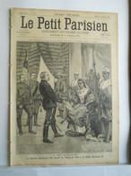 LE PETIT PARISIEN N°350 - 20 SEPTEMBRE 1895 - TANANARIVE GENERAL DUCHESNE - REINR RANAVALO III - TOUR DU MONDE BROUETTE - 1850 - 1899
