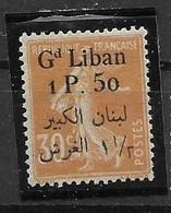 Grand Liban Mh Nc * 70 Euros 1924 - Ongebruikt