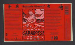 Etiquette De Bière  -  Carabosse  -  Brasserie Ubérach à Uberach  (67) - Beer