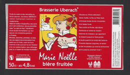 Etiquette De Bière Fruitée  -  Marie Noëlle  -  Brasserie Ubérach à Uberach  (67) - Beer