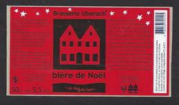 Etiquette De Bière De Noël  -  Brasserie Ubérach à Uberach  (67) - Beer