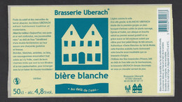Etiquette De Bière Blanche  -  Brasserie Ubérach à Uberach  (67) - Beer
