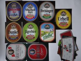 9 Bier-Etiketten - Gräfl. Hofbräuhaus, Freising, Bayern - Beer