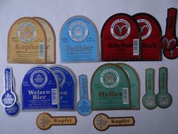 9 Bier-Etiketten - Brauerei Berghammer, Bayern, Niederbayern - Beer
