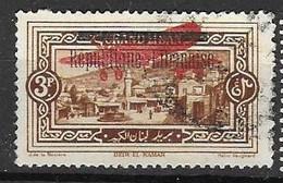 Grand Liban VFU TB 6 Euros 1927 - Used Stamps