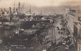 063 - Real Photo - B&W - Smyrne Grèce - Mouvements Du Port - No. P.V.1 - Written - 2 Scans - Turkey