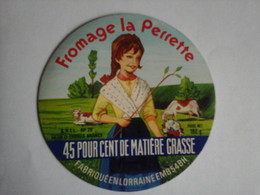 Etiquette De Fromage  La Perrette - Fromage