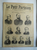 LE PETIT PARISIEN N°353 - 10 NOVEMBRE 1895 - NOUVEAUX MINISTRES - DEPUTE ALSACE LORAINE - 1850 - 1899
