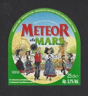 Etiquette De Bière De Mars  -  Brasserie Méteor à Ochefelden  (67) - Beer
