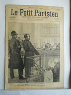 LE PETIT PARISIEN N°356 - 1 DECEMBRE 1895 - ARRESTATION D'ARTON - LION - 1850 - 1899