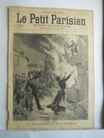 LE PETIT PARISIEN N°35 - 8 DECEMBRE 1895 - DEVOUEMENT D'UN SOLDAT GEORGES CHARLON - VELOCIPEDE MILITAIRE - 1850 - 1899