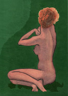 Nude Woman Art Original Woman's Body Silhouette Painting Drawing Pastel Charcoal 20 X 30 Cm Or 7.9 X 11.8 In - Pastelli