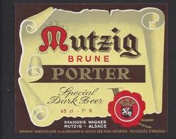 Etiquette De Bière Brune  -  Porter  -  Brasserie Wagner à Mutzig   (67) - Beer