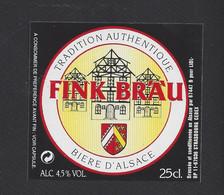 étiquettes De Bière Tradition  -  Fink Bräu   -  Brasserie De Schiltigheim  (67) - Beer