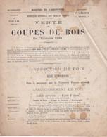 Foix (Ariège)IVente De Coupes De Bois Exercice 1921 (28 Pages,concerne Toute L'Ariège) - Unclassified