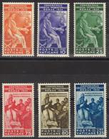 VATICANO 1935 - Congresso Giuridico - Serie 6 Val. Nuovi* Tracce Linguella  (1077) - Ungebraucht
