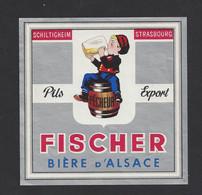 étiquettes De Bière Pils Export  -  Pêcheur  -  Brasserie Fischer à Schiltigheim  (67) - Beer