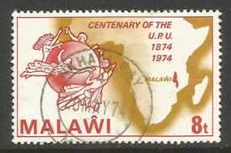 MALAWI. 1974. 8t UPU USED NKHATA BAY POSTMARK. - Malawi (1964-...)