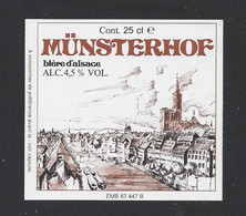 étiquettes De  Bière French Beer   -  Münsterhof  -  Brasserie De Schiltigueim  (67) - Beer
