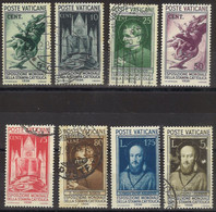 VATICANO 1936 - Stampa Cattolica - Serie 8 Val. Misti Nuovi E Usati  (1076) - Gebraucht