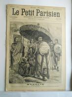 LE PETIT PARISIEN N°359 - 22 DECEMBRE 1895 - EMPEREUR D'ABYSSINIE MENELIK SUR AMBA-ALAGHI - 1850 - 1899