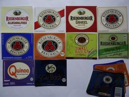 10 Bier-Etiketten - Bio-Bier, Riedenburger Brauhaus, Bayern - Beer