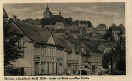 WARSTEIN I. Sauerland   Adolf-Hitler-Strasse Mit Blick Zur Alten Kirche   R.A.D. Lager-Karte  (1 Mal Verfügbar) - Pétange