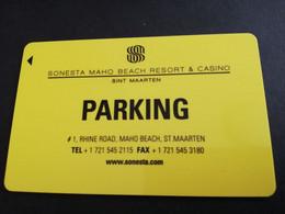 HOTEL KEY  SONESTA MAHO BEACH RESORT & CASINO  SINT MAARTEN / PARKING         MAGSTRIPE    ** 5537 ** - Hotel Keycards