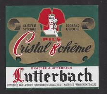 étiquettes De Bière Spéciale De Grand Muxe  -  Cristal Bohême   -  Brasserie De Lutterbach (68) - Beer
