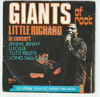 SP 45 TOURS LITTLE RICHARD IN CONCERT + CARL PERKINS PROMO AGFA 1978 FRANCE - Rock