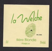 étiquettes De Bière Blonde  -  La Welche  -  Brasserie Des Pays Welche à Lapoutroie  (68) - Beer