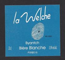 étiquettes De Bière Blanche  -  La Welche  -  Brasserie Des Pays Welche à Lapoutroie  (68) - Beer