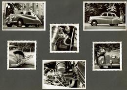6 Photos Originales - C1950 - Automobilia - Automobile / Voiture à Identifier - Voir Scans - Cars