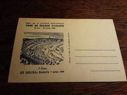 Tour De France Cyclisme Les Sables La Rochelle  7 Juillet 1949 - Sables D'Olonne