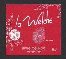 étiquettes De Bière De Noël Ambrée  -  La Welche  -  Brasserie Des Pays Welche à Lapoutroie  (68) - Beer