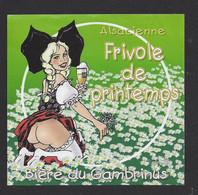 étiquettes De Bière   -  Frivole De Printemps  -  Brasserie L'Alsacienne Sans Culotte à Mulhouse  (68) - Beer