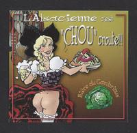 """étiquettes De Bière   -  """"Chou"""" Croute!!!  -  Brasserie L'Alsacienne Sans Culotte à Mulhouse  (68) - Beer"""