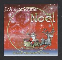 étiquettes De Bièren  De Noël   -  Du Gambrinus  -  Brasserie L'Alsacienne Sans Culotte à Mulhouse  (68) - Beer