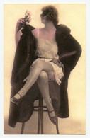Photogravure.la Femmes Masquée.style Art Déco.bas. Porte-jarretelle.fourrure. Carte Colorisée. érotique ( Reproduction ) - Reproductions